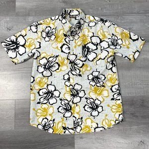3/$30 Ripzone Button Up Hawaii Hibiscus Shirt M